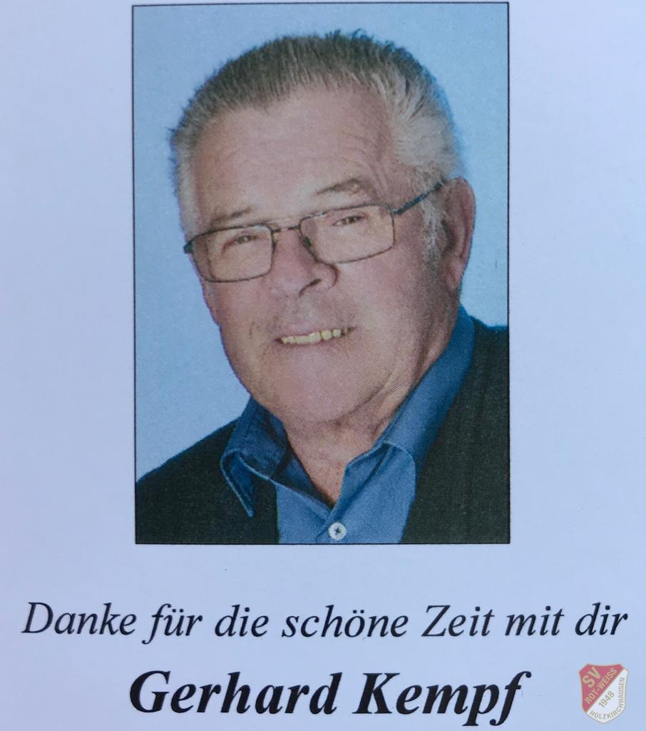 Anzeige Gerhard Kempf